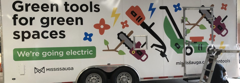 City of Mississauga Landscaping maintenance trailer